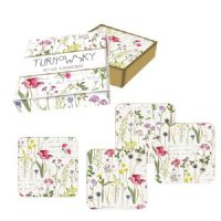 Turnowsky Gardenia Boxed Set Heat Resistant Cork Back Coasters